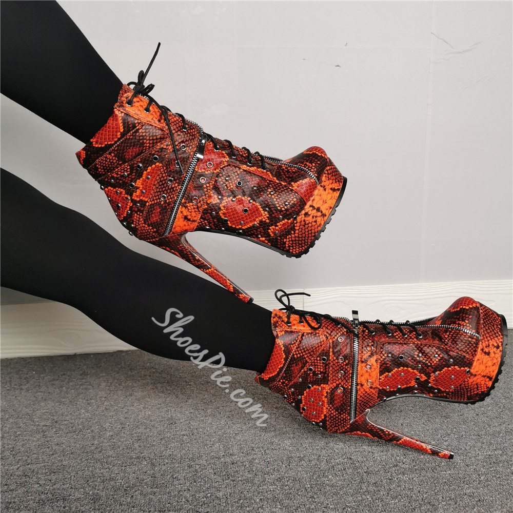 Shoespie Fashion Side Zipper Round Toe Platform Ankle Boots