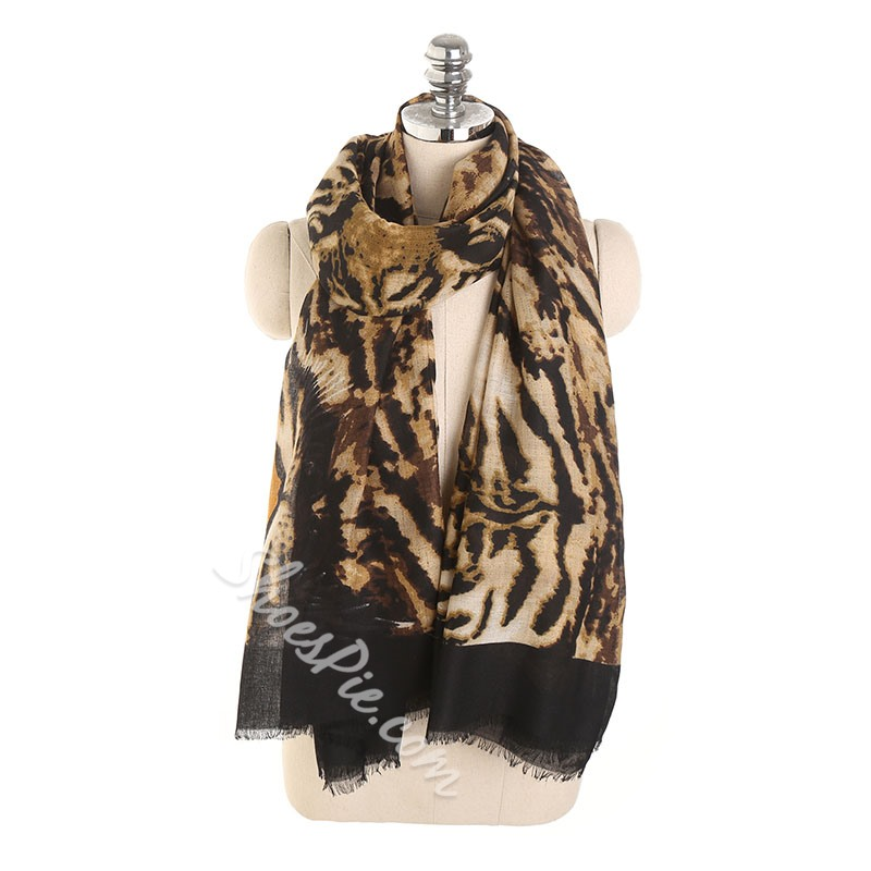 Scarf Polyester Fashion Leopard Scarves