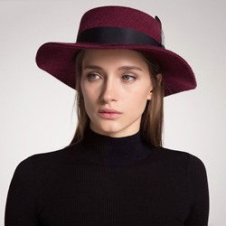 Wool Blends Feather British Spring Hats