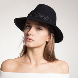 Wool Blends Fedora Hat British Winter Hats