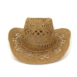 Straw Plaited Article Straw Hat Hollow Summer Hats