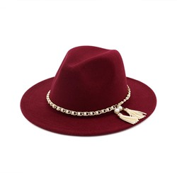 British Tassel Fedora Hat Fall Hats