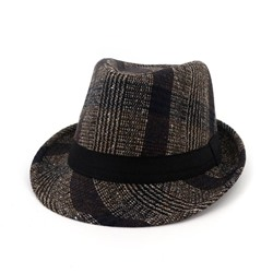 Hemming Fedora Hat Fashion Plaid Hats
