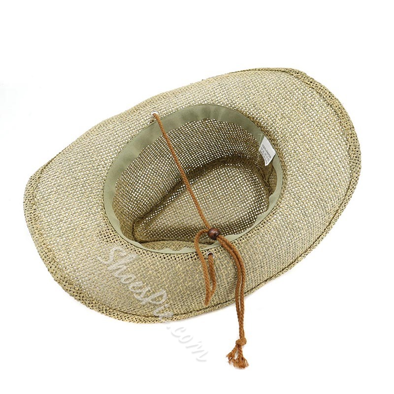 Hand-Made Straw Plaited Article Straw Hat Plain Hats