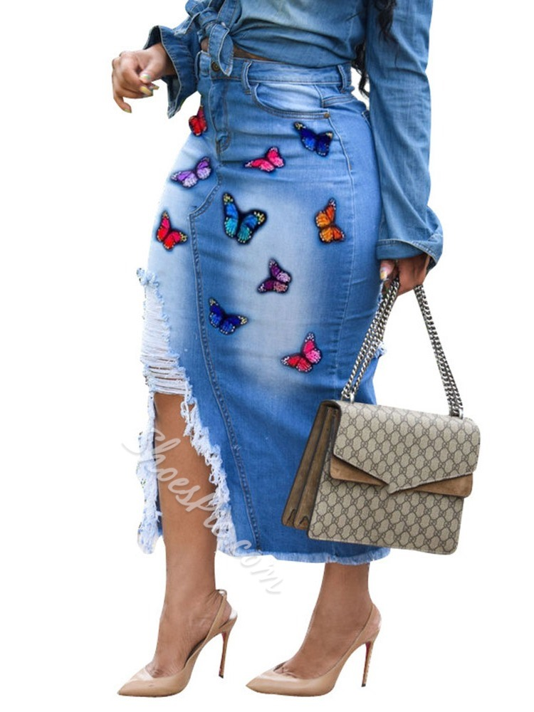 Bodycon Embroidery Animal Sexy Women's Skirt