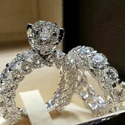 Romantic Diamante Rings