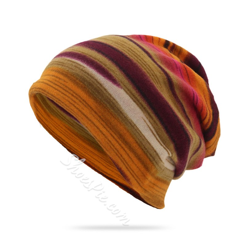 Print Polyester European Stripe Hats