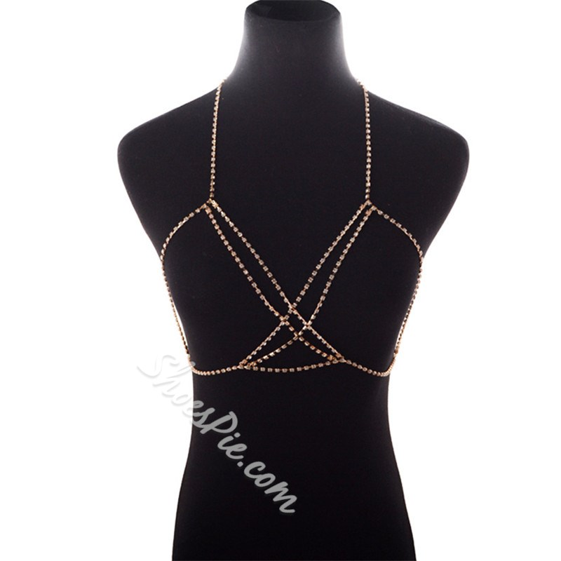 Diamante European Female Western Body Chain