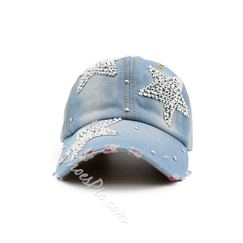 Casual Diamond Denim Winter Hats