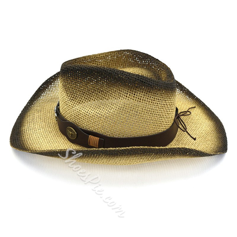 Straw Plaited Article Cowboy Hat 3D Fall Hats