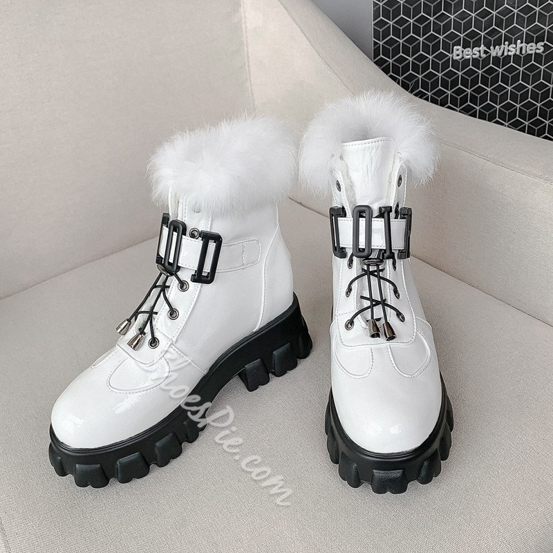 Shoespie Trendy Plain Hasp Round Toe Casual Boots
