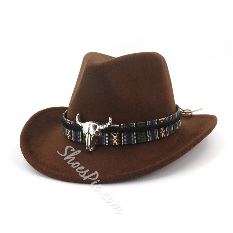 Wool Blends 3D Cowboy Hat Winter Hats
