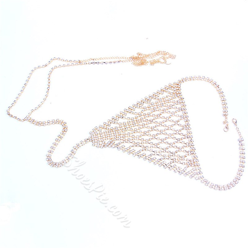 European Diamante Female Sexy Body Chain