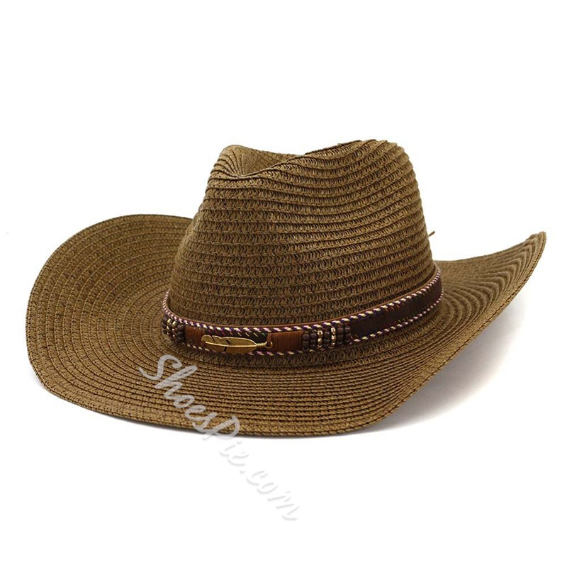 Straw Hat Casual Straw Plaited Article Plain Hats