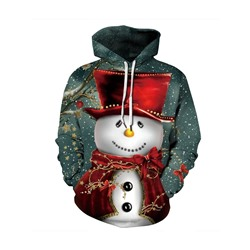 Christmas Regular Color Block Hooded Women's Hoodie
