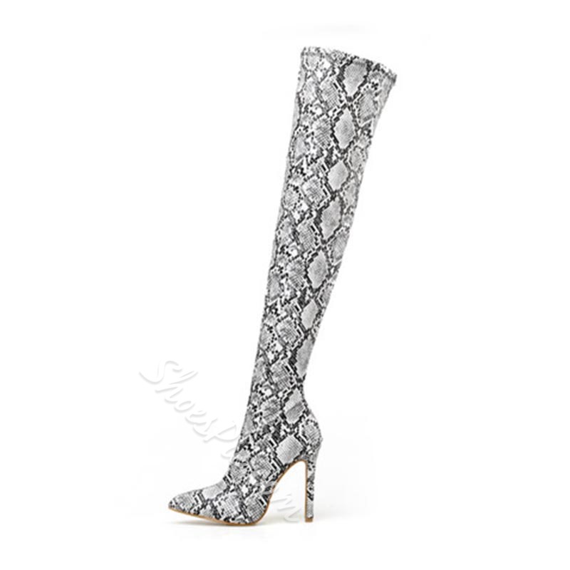 Shoespie Stylish Pointed Toe Side Zipper Stiletto Heel Boots