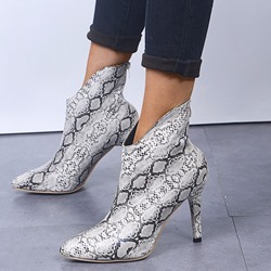 Shoespie Sexy Back Zip Stiletto Heel Pointed Toe Serpentine Boots