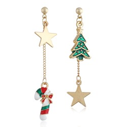 E-Plating Alloy Sweet Christmas Gift Earrings