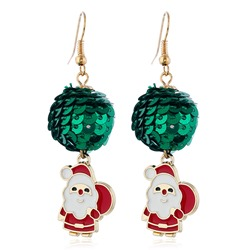 European Oil Drip Alloy Christmas Earrings