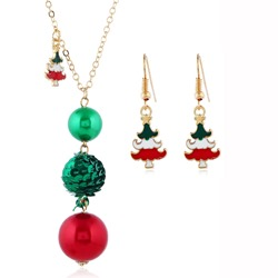 Sweet Earrings E-Plating Christmas Jewelry Sets