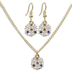 Necklace Snowflack European Christmas Jewelry Sets