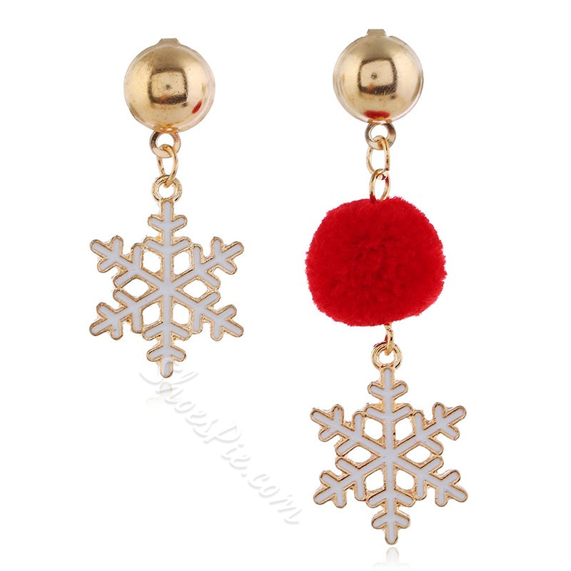 European Alloy E-Plating Christmas Earrings