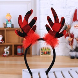 Hairband Plaid Christmas Hair Accessories