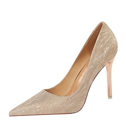Shoespie Sexy Slip-On Pointed Toe Low-Cut Upper Stiletto Heels