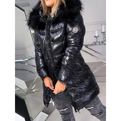 Patchwork Loose Warm Mid-Length Women's Cotton Padded Jacket