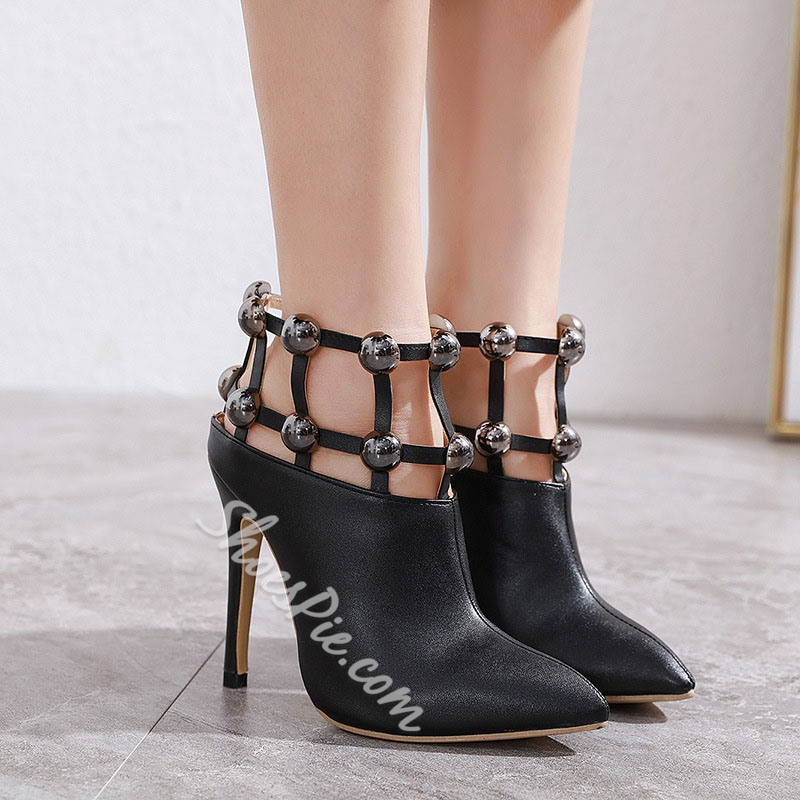 Shoespie Trendy Pointed Toe Stiletto Heel Slip-On Casual Boots