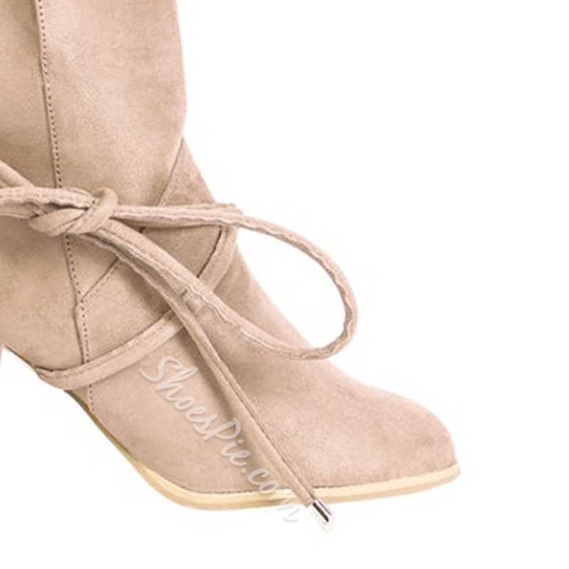 Shoespie Trendy Round Toe Plain Slip-On Casual Boots