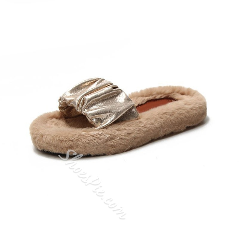 Shoespie Stylish Flip Flop Flat With Slip-On Plain Slippers