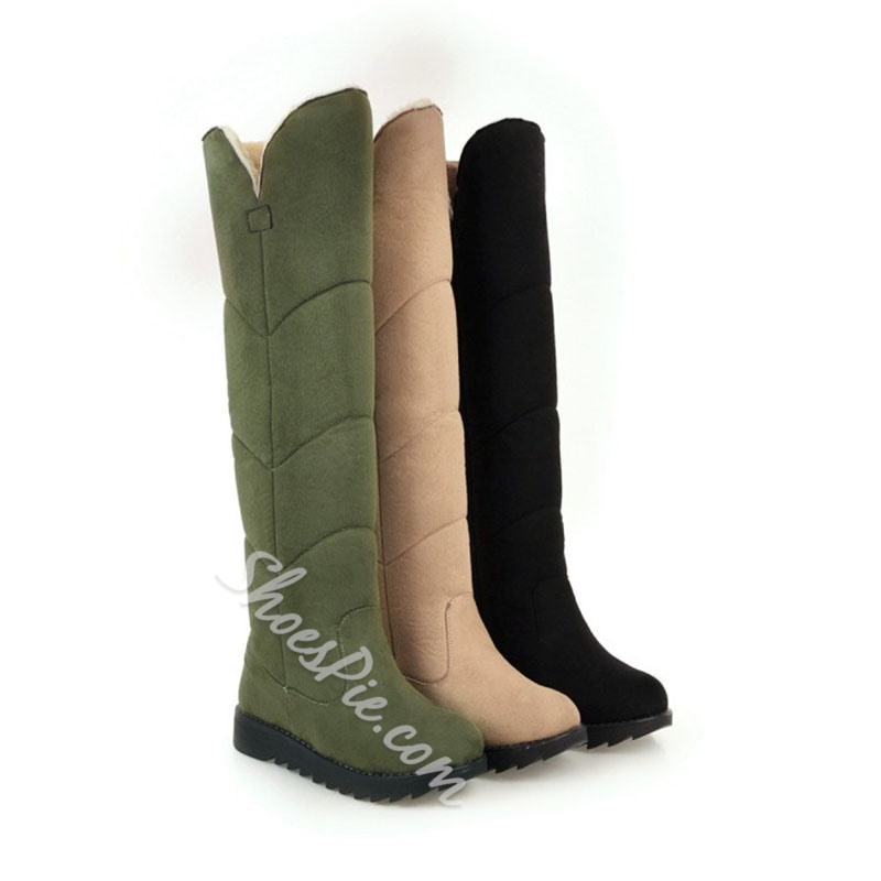 Shoespie Trendy Flat With Slip-On Round Toe Casual Knee High Boots