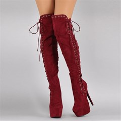 Shoespie Suede Trendy Stiletto Heel Side Zipper Pointed Toe Short Floss Boots