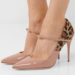 Shoespie Stylish Buckle Pointed Toe Stiletto Heel Low-Cut Upper Thin Shoes