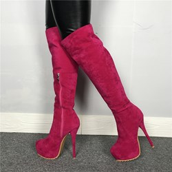 Shoespie Sexy Round Toe Side Zipper Knee High Boots