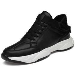 Shoespie Men's Lace-Up Sports Low-Cut Upper PU Sneakers