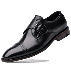 Shoespie Men's Low-Cut Upper Pointed Toe Leather Shoes