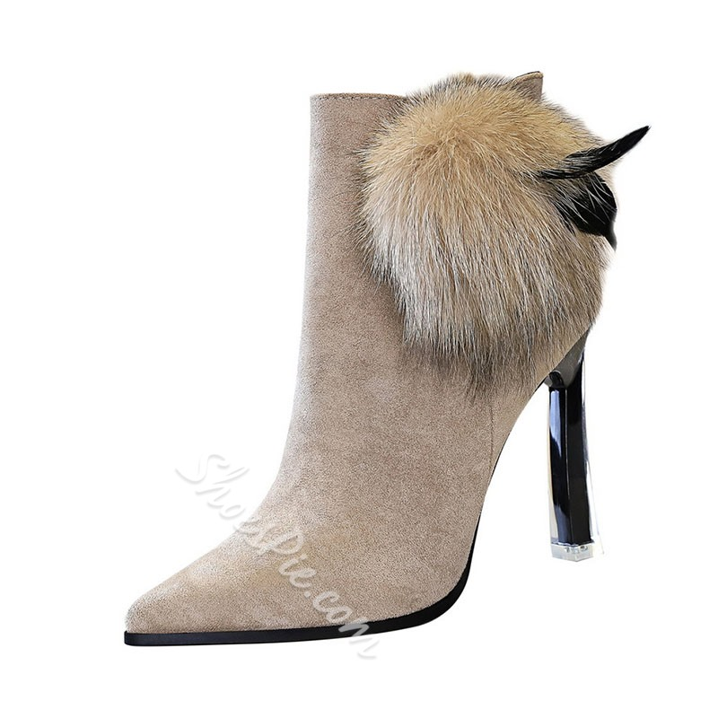 Shoespie Trendy Pointed Toe Plain Stiletto Heel Western Boots
