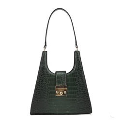 Shoespie Thread Alligator PU Rectangle Shoulder Bags