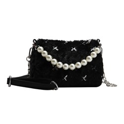 Shoespie Sequins PU Circular Crossbody Bags