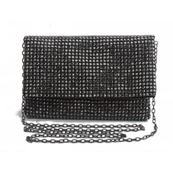 Shoespie Plain Rhinestone Rectangle Crossbody Bags