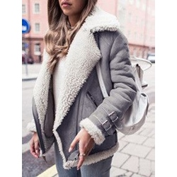 Patchwork Loose Mid-Length Fashion Women's Overcoat