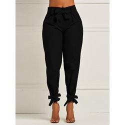 Plain Slim Ankle Length Women's Casual Pants
