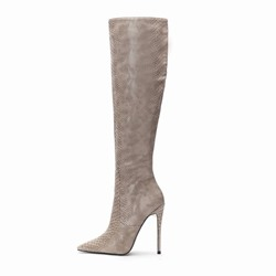 Shoespie Trendy Plain Side Zipper Stiletto Heel Thread Boots