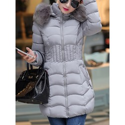 Plus Size Slim Thick Mid-Length Women's Cotton Padded Jacket