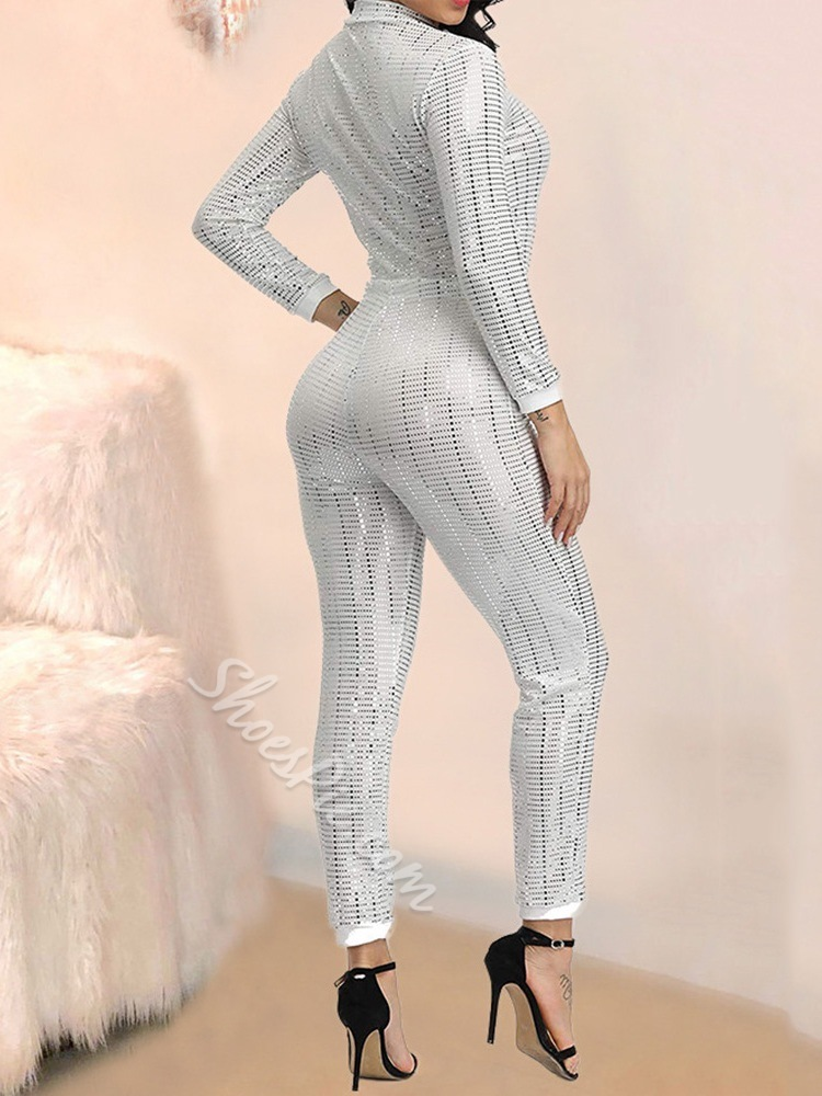 Zipper Casual Skinny Women's Jumpsuit