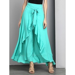 Plain Loose Full Length Women's Casual Pants