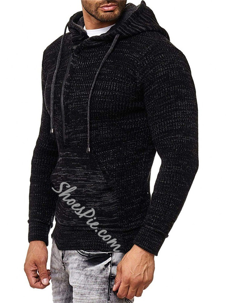 Hooded Standard Spring Casual Sweater