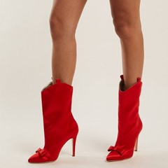 Shoespie Stylish Pointed Toe Stiletto Heel Slip-On Western Boots